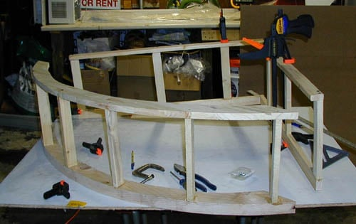 Glued and tacked that down as well and cl&ed overnight with A LOT of cl&s!! Several coats of Kilz primer and laquer paint and Voila!! & My DIY 92 gal Corner Canopy | Saltwaterfish Forum