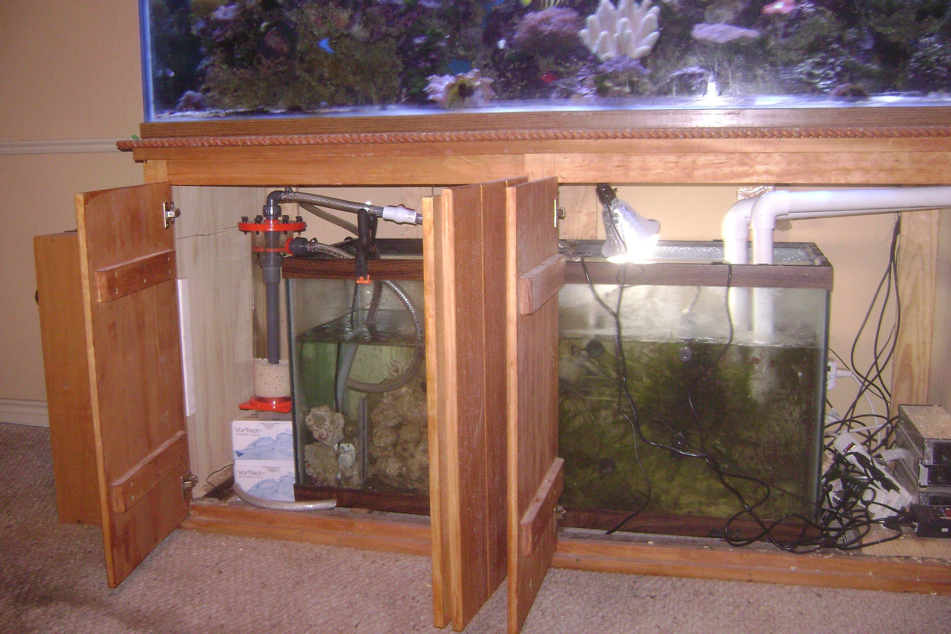 Got my 92 gallon corner tank Need help with sump idea s